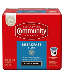 Breakfast Blend Medium Roast Single Serve Pods, Keurig K-Cup Brewer Compatible, 54 Ct