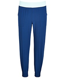 Big Girls Contrast-Waist Jogger Pants, Created for Macy's