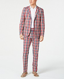 Men's UltraFlex Classic-Fit Plaid Madras Suit Separates