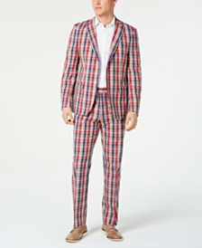 Lauren Ralph Lauren Men's UltraFlex Classic-Fit Plaid Madras Suit Separates