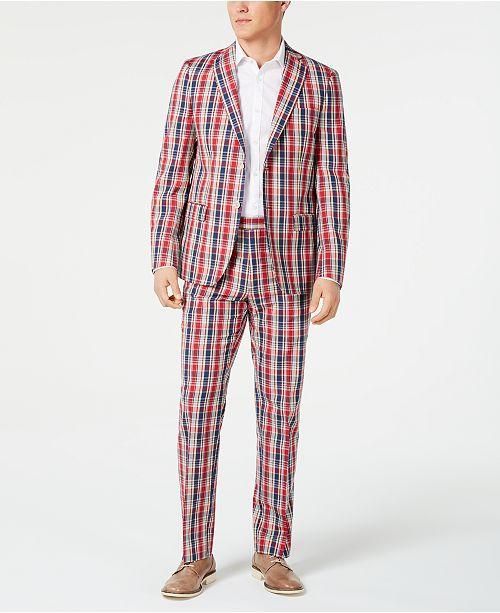 Lauren Ralph Lauren Men's UltraFlex Classic-Fit Plaid Madras Suit Separates