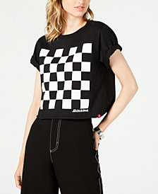 Dickies Cropped Checkered Cotton T-Shirt