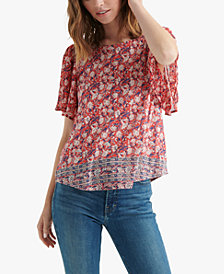 Lucky Brand Printed Open-Back Top