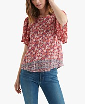 80de5884d18 Lucky Brand Printed Open-Back Top