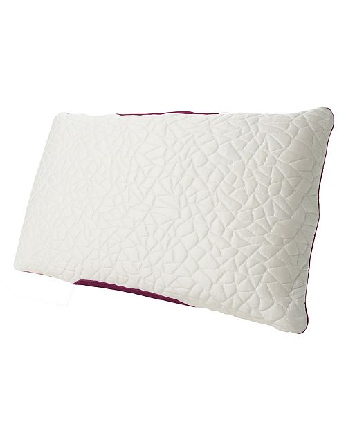Protect-A-Bed Queen Therm-A-Sleep Snow Memory Foam Hybrid Medium Pillow ft. Nordic Chill Fiber and Tencel