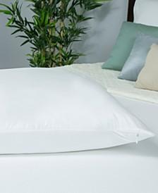 Therm-A-Sleep Cool Moisture-Wicking Tencel Hypoallergenic Queen Waterproof Pillow Protector