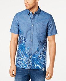 American Rag Men's Regular-Fit Tropical Floral-Print Shirt, Created for Macy's
