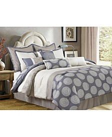Dante 10-Piece Comforter Set, Gray, California King
