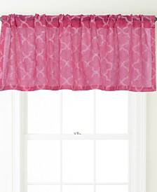 "Jess Rod Pocket Embroidered Curtain Valance, White , 54 x 18"""