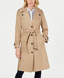 London Fog Belted Single-Breasted Trench Coat