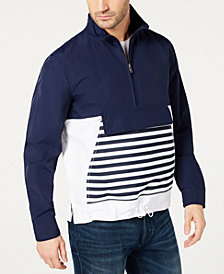 Club Room Men's Striped Anorak Popover Jacket, Created for Macy's