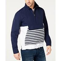 Macys deals on Club Room Mens Striped Anorak Popover Jacket