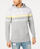 American Rag Mens Regular Fit Colorblocked Stripe Hoodie Created For Macys