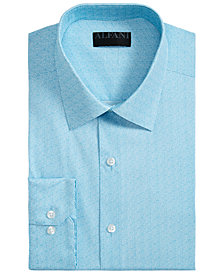 Alfani Men's Slim-Fit AlfaTech Spiral Dot Shirt, Created for Macy's