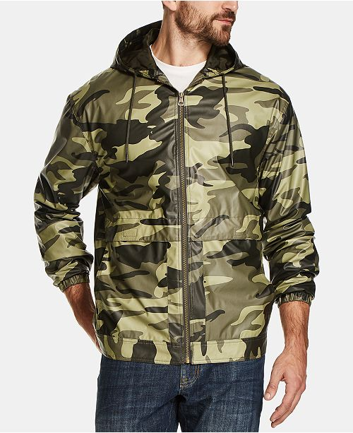 Weatherproof Vintage Men's Camo-Print Hooded Jacket, Created for Macy's