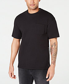 A X Armani Exchange Men's Embroidered Zipper T-Shirt