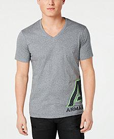 A X Armani Exchange Men's V-Neck Logo T-Shirt