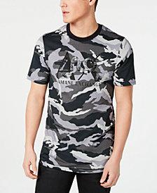 A X Armani Exchange Men's Slim-Fit Camo Logo T-Shirt