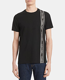 Calvin Klein Men's Sideways Logo Stripe T-Shirt