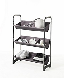Stackable 3-Tier Fabric Bin Utility Shelf