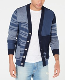 American Rag Men's Colorblocked Striped Cardigan, Created for Macy's