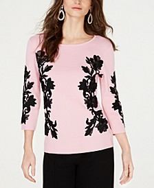 INC Lace-Trim Sweater, Created for Macy's