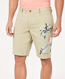 "Tommy Bahama Men's Tahitian Tweet Regular-Fit Performance Stretch Tropical-Print 10"" Shorts"