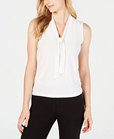 Anne Klein Tie-Neck Top