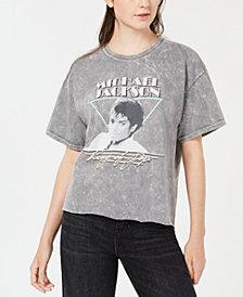 True Vintage Michael-Jackson-Graphic Cotton T-Shirt