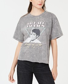 True Vintage Michael-Jackson-Graphic Cotton T-Shirt