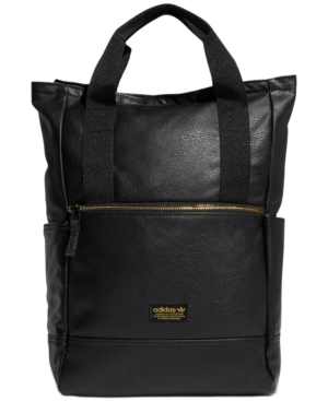 ADIDAS ORIGINALS. Adidas Originals Tote Backpack in Black Gold Lurex 9d9003bf07