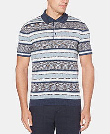 Perry Ellis Men's Striped Patterned Polo