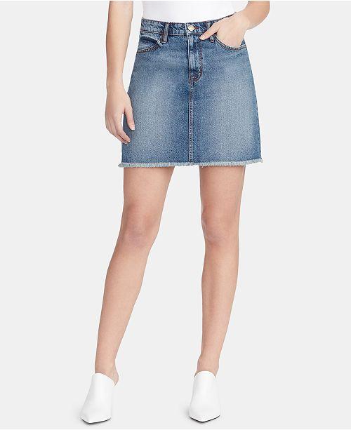 WILLIAM RAST A-Line Denim Skirt