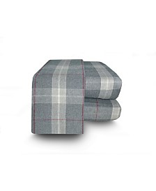 Flannel Plaid Sheet Set Queen