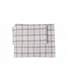 Flannel Check Plaid Sheet Set Queen