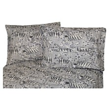 Zebra Heather Flannel Sheet Set Twin