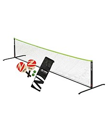 Zume Games Portable Instant Play Portable Pickleball Set Includes Paddles, Balls and Net