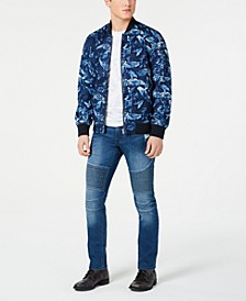 Floral Ace Bomber Jacket & Slim-Fit Moto Jeans, Created for Macy's