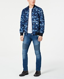 American Rag Floral Ace Bomber Jacket & Slim-Fit Moto Jeans, Created for Macy's