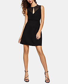 BCBGeneration Faux-Wrap Cutout Dress