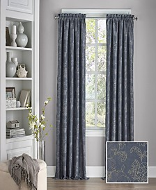 """Eclipse Mallory Thermalayer Blackout Floral 52"""" x 95"""" Curtain Panel"""