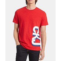 Calvin Klein Jeans Men's Triple Gradient Logo T-Shirt (Racing Red)