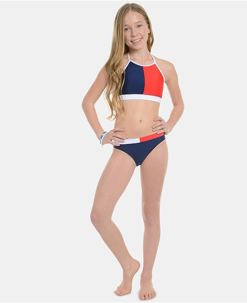 Tommy Hilfiger Big Girls 2-Pc. Akila Swimsuit