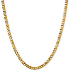 "Curb Link 22"" Chain Necklace in 14k Gold"