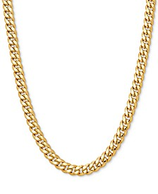 "Curb Link 24"" Chain Necklace in 10k Gold"