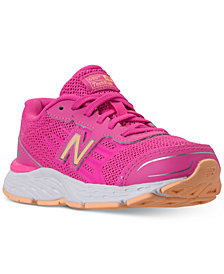 New Balance Little Girls' 680v5 Wide Width Running Sneakers from Finish Line