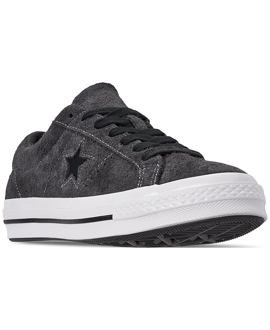 Men s Chuck Taylor One Star Dark Vintage Suede Casual Sneakers from Finish  Line 15e0df89f