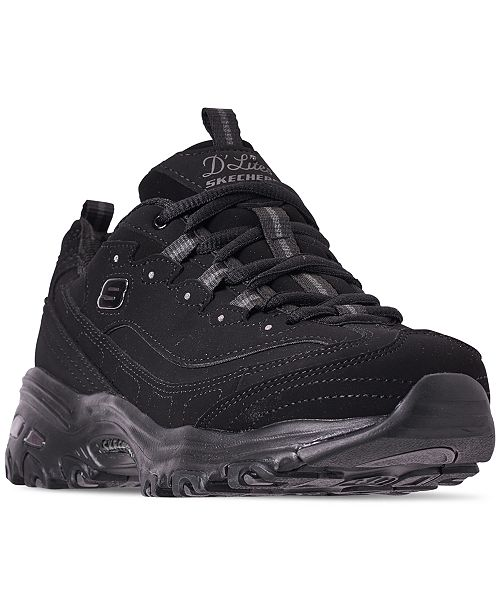 d2ccb2feb244 ... Skechers Women s D Lites - Play On Wide Width Walking Sneakers from  Finish ...