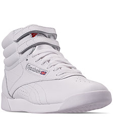 Reebok Women's Freestyle High Top Casual Sneakers from Finish Line
