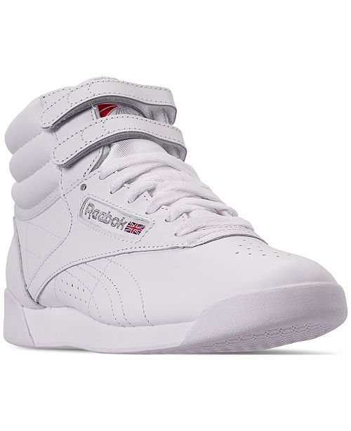 698d73ad657 Reebok Women s Freestyle High Top Casual Sneakers from Finish Line ...